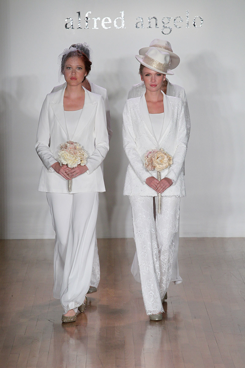 She wears the pants in this relationship huffpost for Lesbian wedding dresses and suits