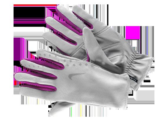 light grey nike runners gloves