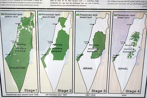 Israel expanding over the years