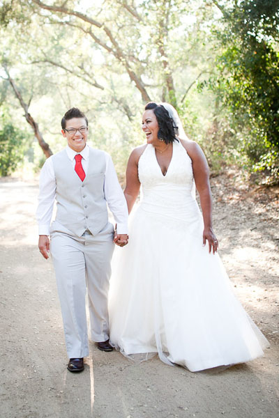 Feminist weddings going beyond the dress huffpost for Lesbian wedding dresses and suits