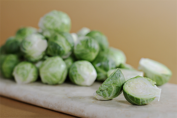Maple-glazed Pan-roasted Brussels Sprouts With Chestnuts | Viviane ...