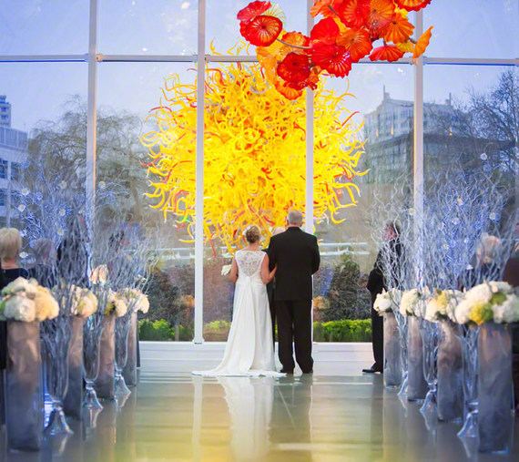 chihuly wedding ceremony