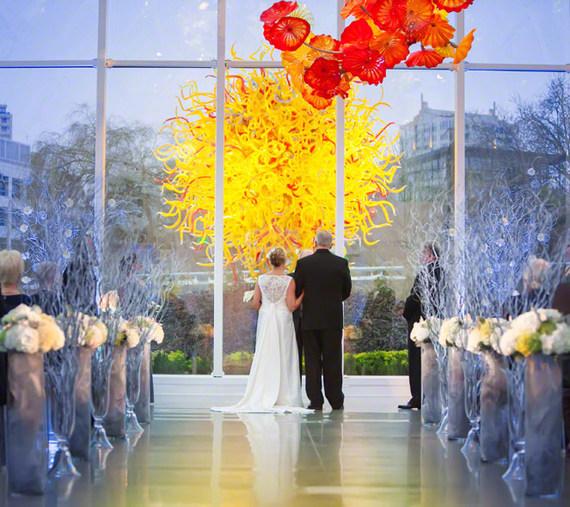 chihuly wedding ceremony