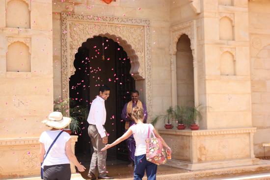 Suryagarh flower petal entrance