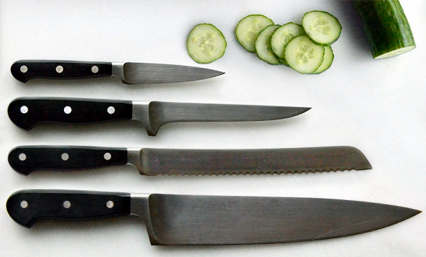 the 4 knives every home cook must own huffpost common kitchen knife descriptions amp uses