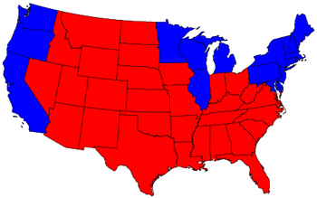 State Map Red Blue
