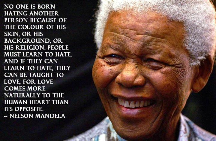 Love Knows No Color Quotes: Nelson Mandela - A Father Of Peace