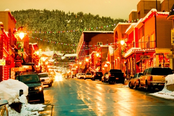 Snow In Park City Utah In December