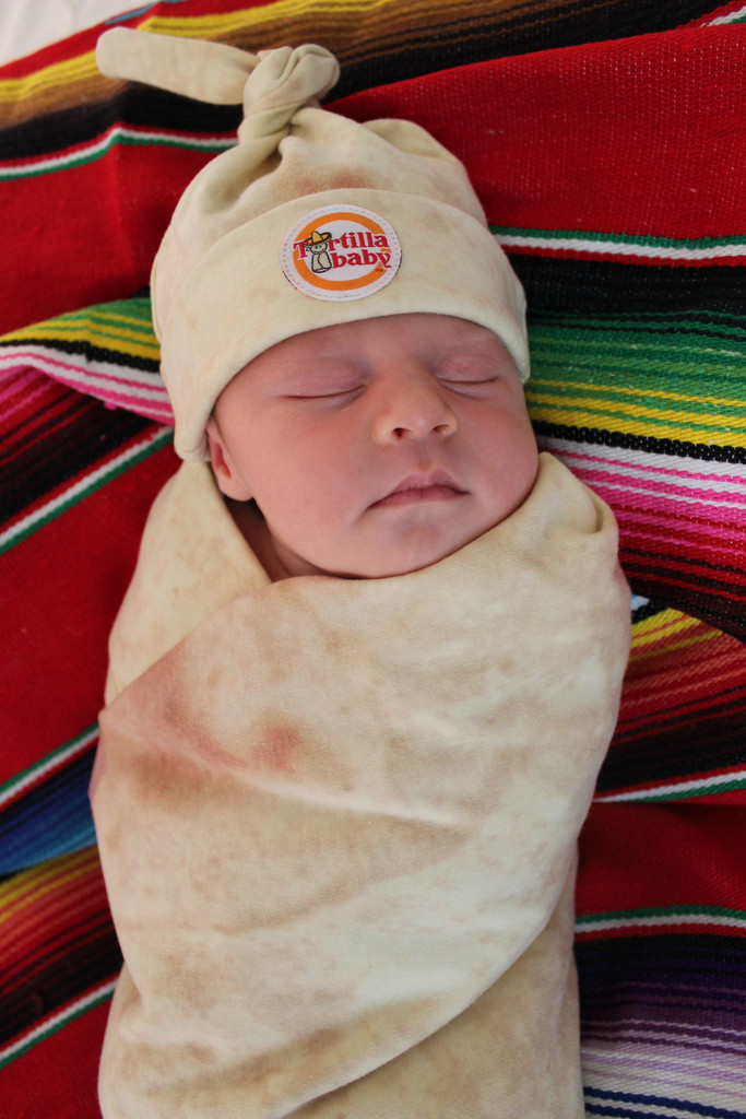 Tortilla Swaddle Blanket Turns Your Baby Into A Burrito