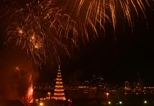 Lagoon fireworks