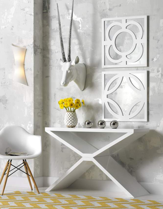 how to decorate a console table huffpost