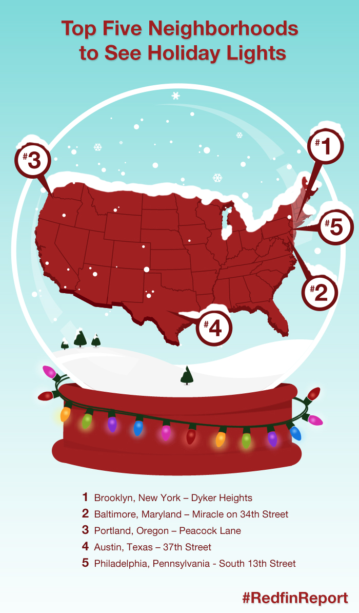 Must see neighborhoods for holiday lights huffpost for Best cities to visit at christmas in the us