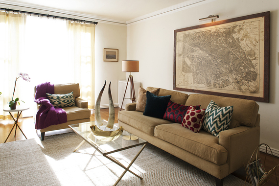 Four easy ways to update your living room for 2014 huffpost for Living room update ideas