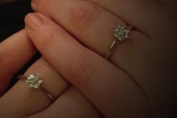 Very expensive wedding rings Lesbian wedding rings platinum