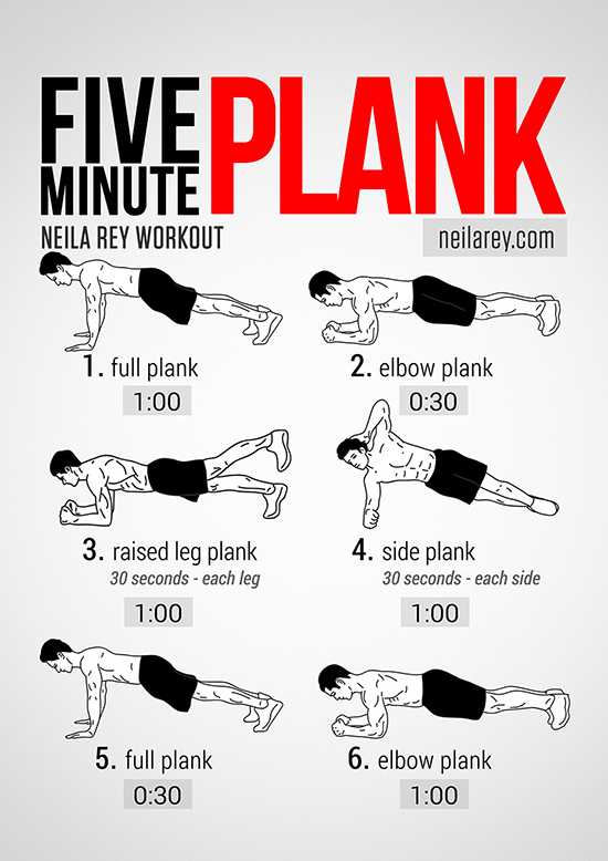 Visual Workout: Five-Minute Plank to Abs of Steel | HuffPost