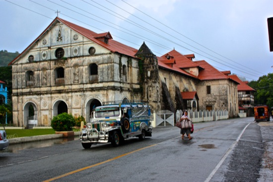 Bohol church and Jeepney