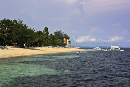 Malapascua beach in Philippines