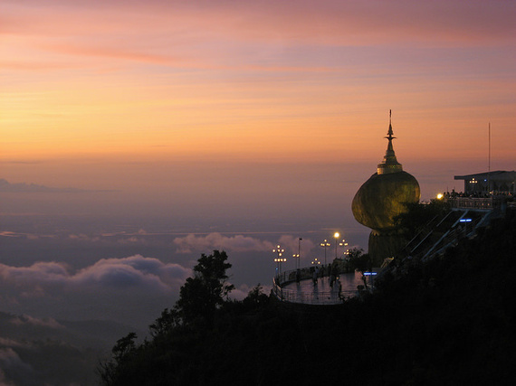 Kyaikthiyo Pagoda in Myanmar