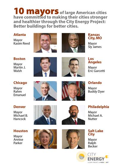 10 mayors of American cities commit to City Energy Project. (Credit: NRDC) Click to enlarge.