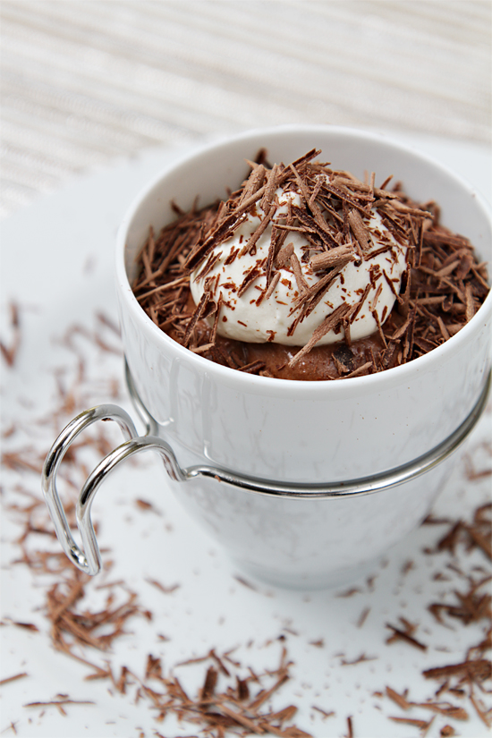 Chocolate Cognac Mousse in Espresso Cups With Maple ...