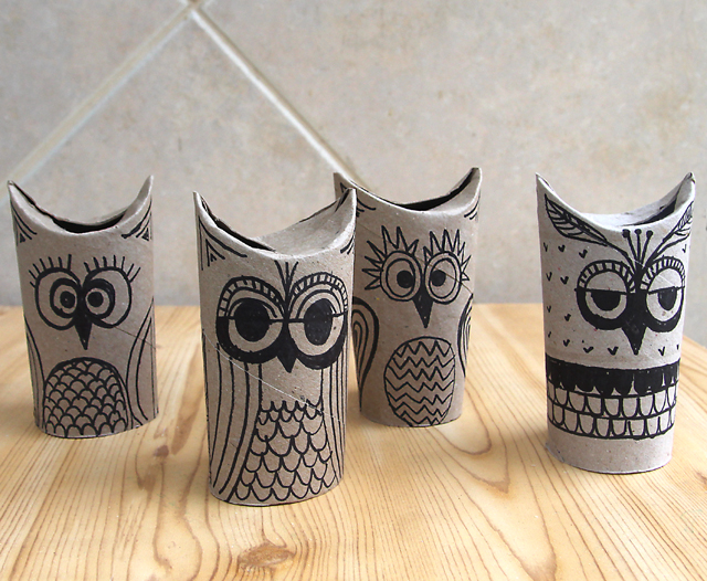 Amazing crafts you can make with toilet paper rolls huffpost - Deco en rouleau de papier toilette ...