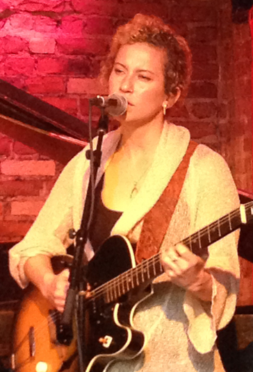 Lily Virginia performing at Rockwood Music Hall. Photo by Alex Schattner