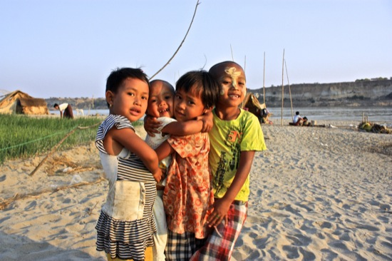 these kids in Bagan wanted a picture so they could see themselves in my camera