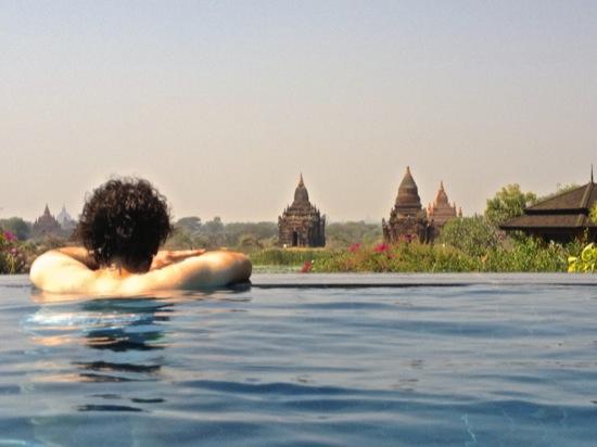 Luxury infinity pool in Bagan