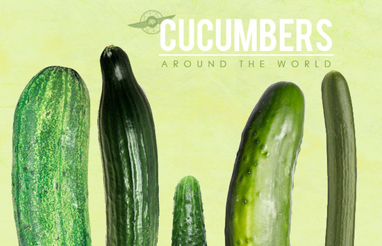 cucumbers with nude arse