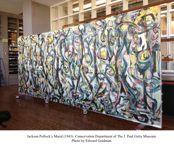Up close and personal huffpost for Mural pollock