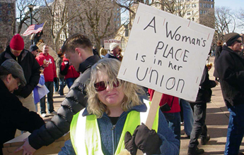 Women's History Month is a perfect time to celebrate the capacity for upward mobility women have gained in the workforce--especially when it comes to labor unions.