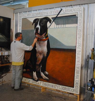 Mark Barone painting Oreo
