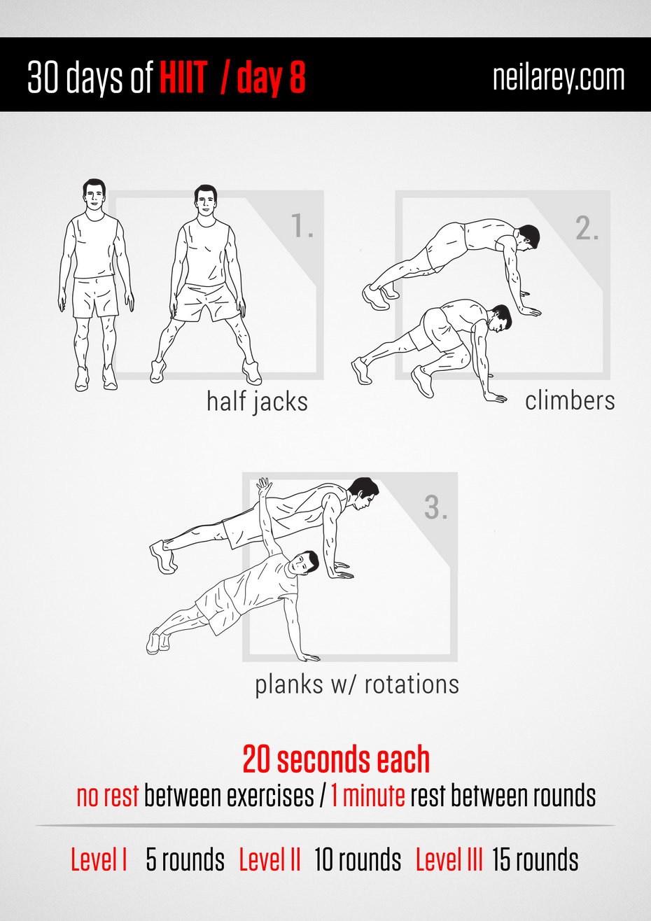 30 Days Of Hiit High Intensity Interval Training At Home Workout