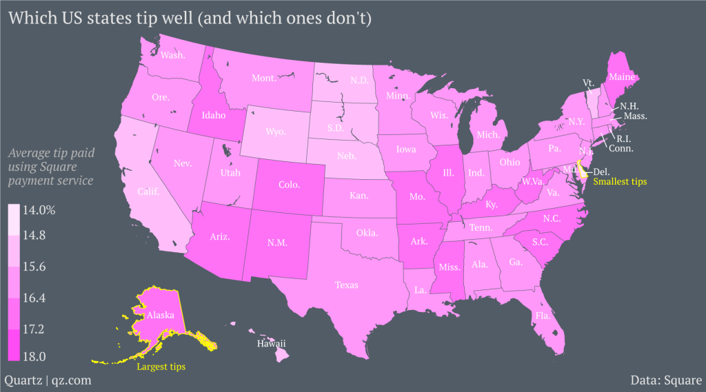 The Second-Smallest U.S. State Is The Worst At Tipping ...