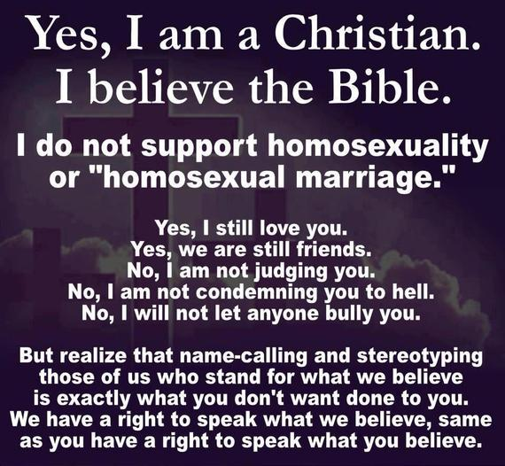 Christian vs homosexuality