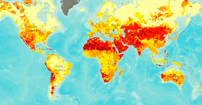 Maps That Will Change The Way You Look At Africa HuffPost - Us water scarcity map