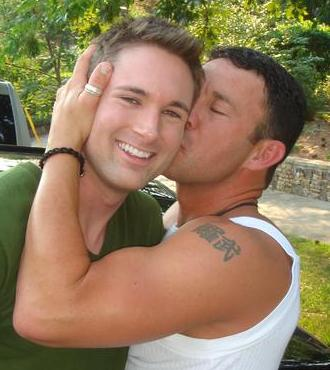 naked fat men kissing
