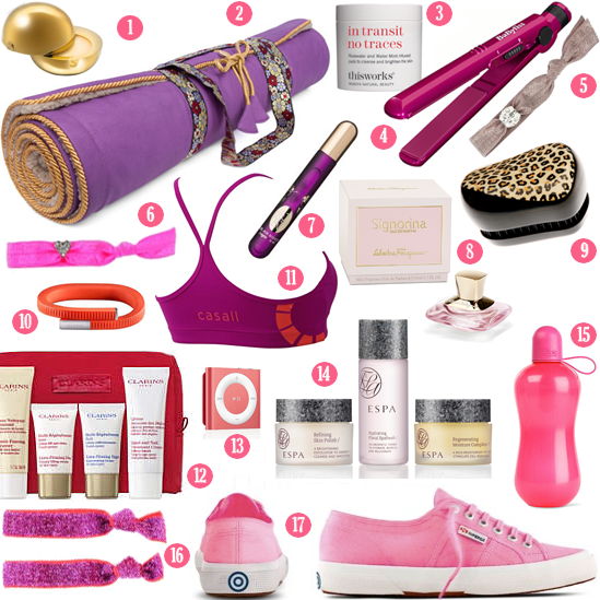 Fitness Goal Goodies And Gym Bag Beauty Treats
