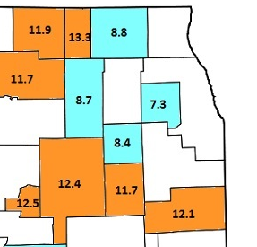 Best and Worst Illinois County February Unemployment Rates, Mapped Out