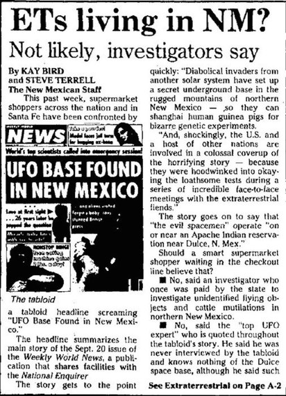 That Time Subterranean Aliens Killed 60 People in New Mexico
