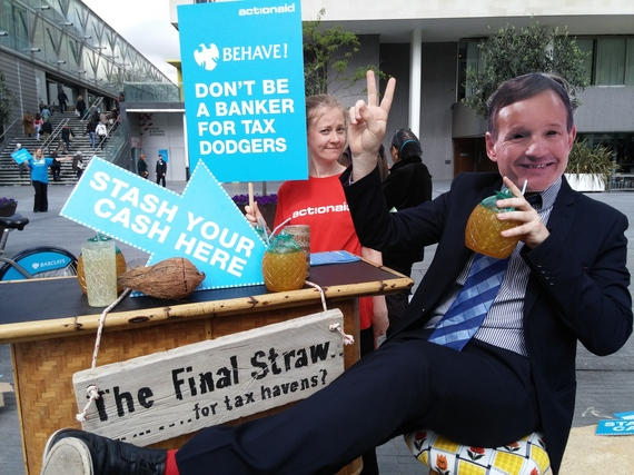ActionAid campaigners call on Barclays to stop promoting tax havens