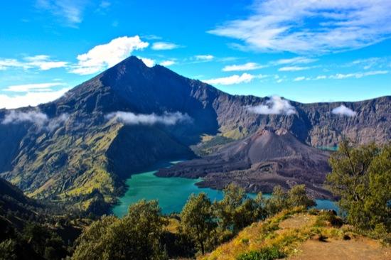 Gunung Rinjani Lombok Indonesia volcano in a volcano