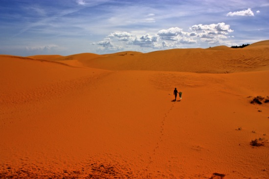 red sand dunes of Mui Ne Vietnam