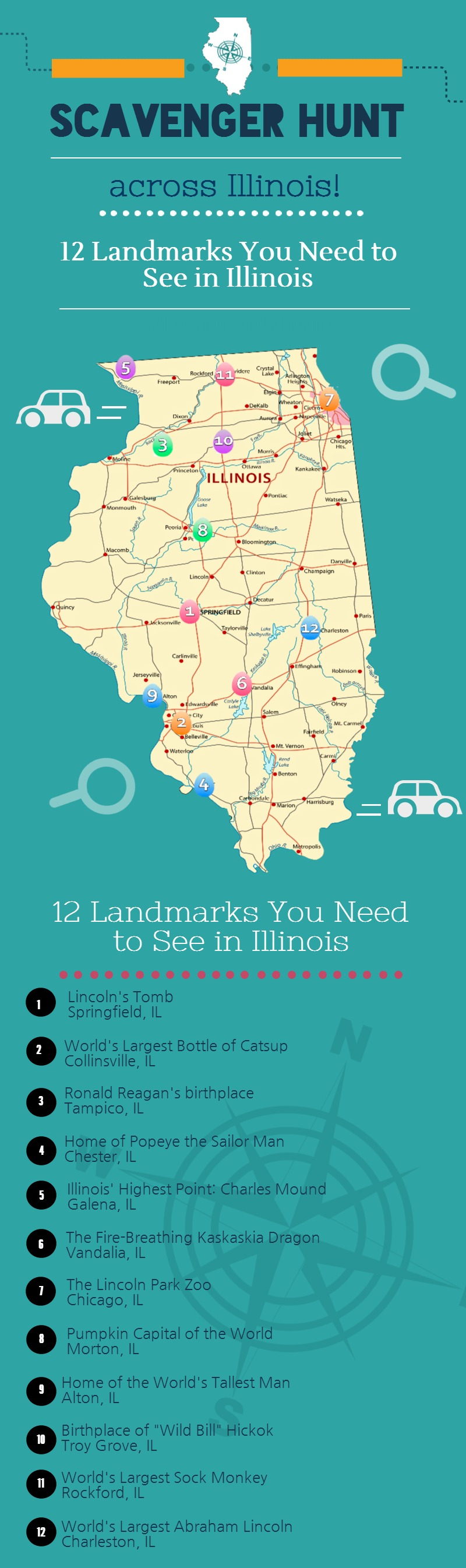 12 Tourist Attractions in Illinois – Tourist Attractions Map In Illinois