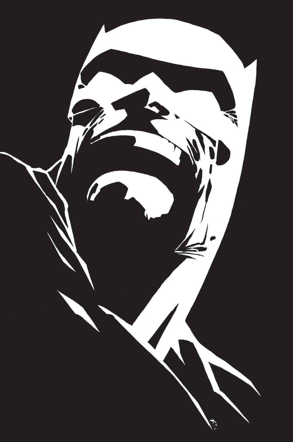 Batman le chevalier noir et blanc le huffington post - Dessin ange noir et blanc ...