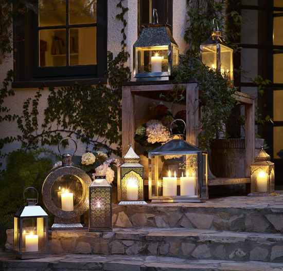 Candle Lanterns for Outdoor Summer Entertaining on the Deck Porch or Patio