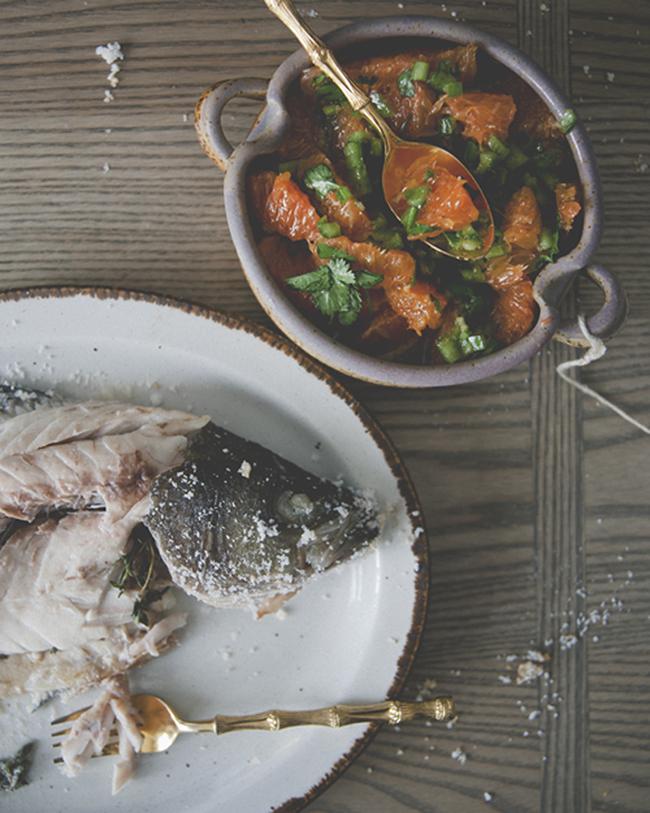 Kitchy Kitchen Recipe: Salt-roasted Fish With Spicy Orange Salsa ...