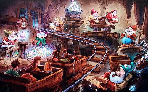 Seven Dwarfs Mine Train Literally Puts A New Face On The