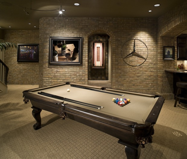 10 man cave ideas your father always dreamed of huffpost for Small pool table room ideas