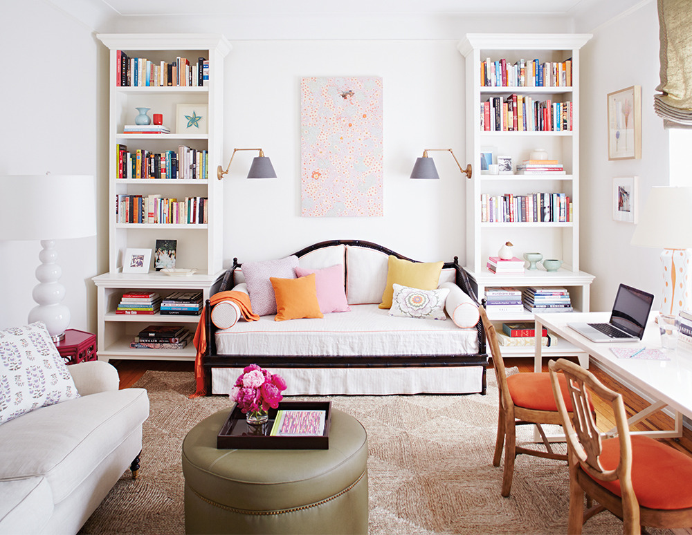 5 tricks to personalize your space with bookcases huffpost. Black Bedroom Furniture Sets. Home Design Ideas